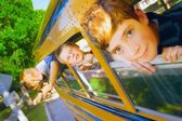 Children On School Bus — Stock Photo