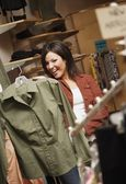 Woman Clothes Shopping — Stock Photo