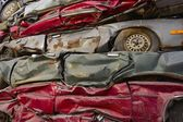 Crushed Cars — Stock Photo