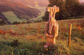 Statue On The Top Of A Hillside — Stock fotografie