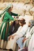 Woman Pours Oil On Jesus' Head — Stock Photo