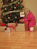 Child Looking At Presents — Stock Photo