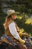 A Woman On A Horse — Stock Photo