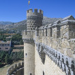 Stock Photo: El Castillo De Manzanares El Real Royal Castle Of Manzanares - Restored In 15Th Century Spain