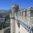 El Castillo De Manzanares El Real The Royal Castle Of Manzanares - Restored In 15Th Century Spain — Stock Photo