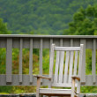 A Rocking Chair On A Deck — Stock Photo