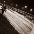 Quiet Highway At Night — Stock Photo