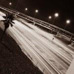 Quiet Highway At Night — Stock Photo