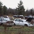 Stock Photo: Vehicles In Junk Yard