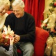 Grandparents At Christmas Time — Stock Photo