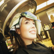 A Young Woman In A Hair Salon A Young Woman In A Hair-Salon A Young Woman In A Hair Salon — Stock Photo #31681431