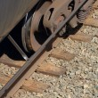 Stock Photo: Wheels Of Train Car