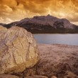Stockfoto: Rocky Shore And Lake