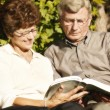 Couple Read Together — Stock Photo