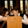 Стоковое фото: Children Goofing Off In Mass