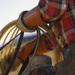 Stock Photo: Closeup Of Cowboy With Lasso