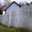 Stock Photo: Weathered Fence