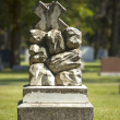 Stock Photo: Headstone In Graveyard