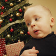 Stock Photo: Toddler At Christmas