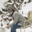 Stock Photo: Sitting In Snow
