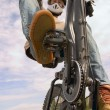 Stock Photo: Teenager Riding Bike