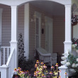Stok fotoğraf: VerandOf House With Flowers Displayed
