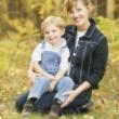 Retrato de madre e hijo — Foto de Stock