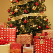 Stock Photo: Christmas Tree With Presents Underneath