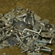 A Heap Of Nuts & Bolts — Stock Photo