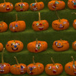 Stock Photo: Pumpkins In Row