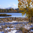 Stock Photo: Snow Field In Fall