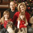 A Family Christmas Portrait — Stock Photo