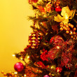 Closeup Of Christmas Tree — Stock Photo