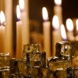 Foto Stock: Lit Candles