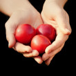 Hands Full Of Red Fruit — Stock Photo #31687577