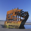 Ship Wreck On The Shore, The Peter Iredale, Fort Stevens State Park, North Oregon Coast, Usa — Stock Photo