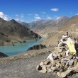 Stock Photo: Reservoir At SimelhPass, Gyantse, Tibet, China