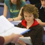 uczniowie w klasie — Zdjęcie stockowe