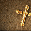 Stock Photo: Damaged Golden Cross