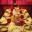 Table Set For Thanksgiving Meal — Stock Photo
