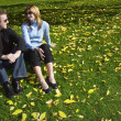 Couple Sitting On Grass — Stock Photo #31689019