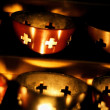 Candles Burning In A Church — Stock Photo