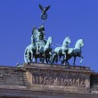 Detail, Brandenburg Gate, Sculpture Of Four Horse Chariot Driven By Goddess Of Peace. — Stock Photo #31689389