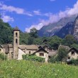 Stock Photo: Town In Lush Valley
