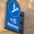 Stock Photo: Walkway Sign