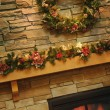 Stock Photo: Christmas Mantle