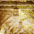 Stock Photo: Lanterns Hanging From Arbour