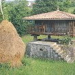 Stock Photo: Traditional Stone Granary (Horreo) With Haystack In Asturias