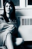 Sitting By A Heating Vent — Foto Stock