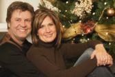 Portrait Of A Couple At Christmas — Foto de Stock